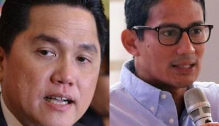 Sandiaga Uno: Enggak Ada yang Perlu Direkonsiliasikan dengan Erick Thohir