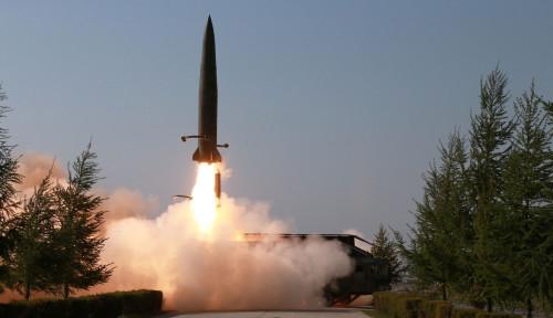 Foto AS: Uji Coba Peluncuran Rudal Korut Langgar Resolusi PBB