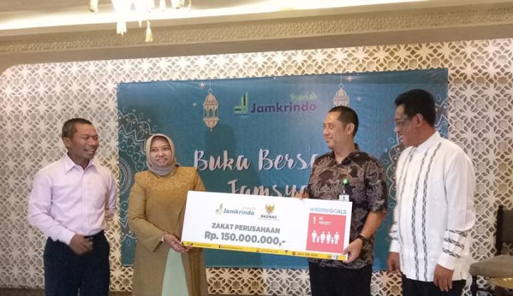 Laba 2018 Meningkat, Jamkrindo Syariah Kembali Salurkan Zakat 2,5% - Warta Ekonomi
