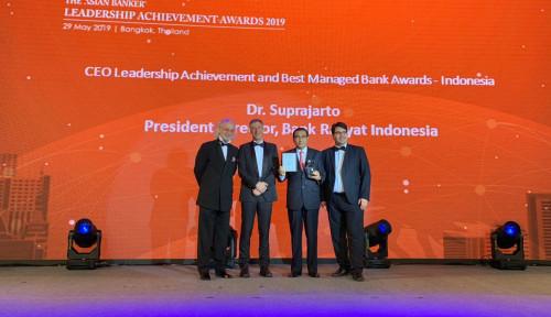 Foto Bos BRI Raih Penghargaan dari The Asian Banker