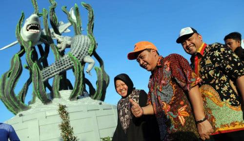 Foto Ada Semburan Lumpur di Surabaya, Lapindo?