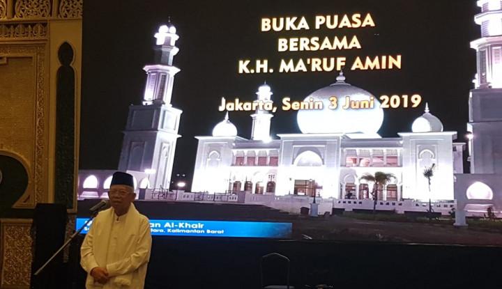 Sudah Menang Versi QC dan RC KPU, Ma'ruf Amin: Kemenangan Masih Digantung