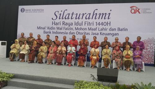 Foto Kompak, BI dan OJK Gelar Halal Bihalal Bareng