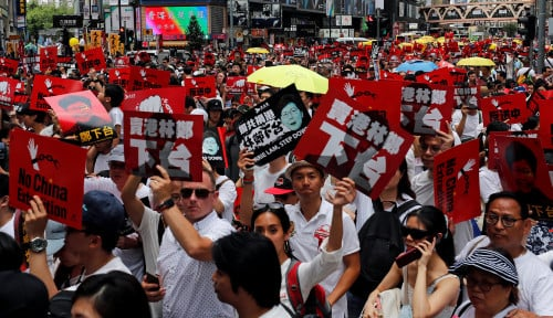 Foto Horeee… People Power Menang di Hong Kong
