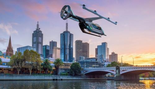 Foto Uber Uji Coba Layanan Taksi Terbang di Melbourne