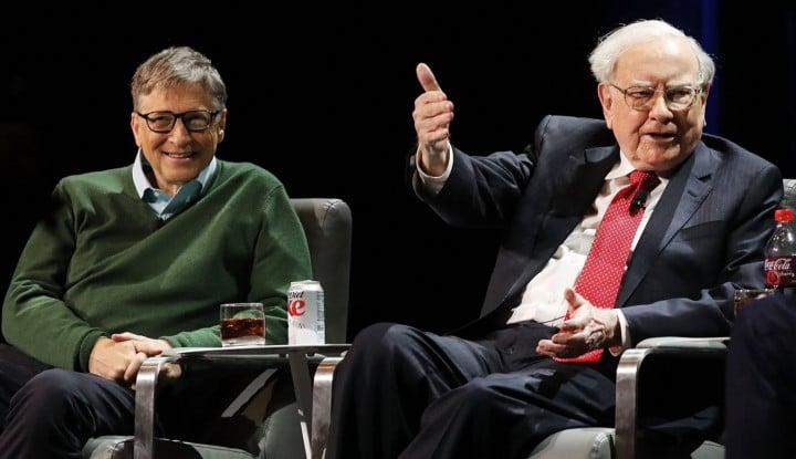 Sohib Abis! Warren Buffet ke Pendiri Microsoft: Penasihat Sains Saya Ya Bill Gates - Warta Ekonomi