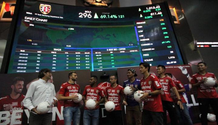 Jadi Klub Bola Pertama di BEI, Saham Bali United Melambung Tinggi - Warta Ekonomi