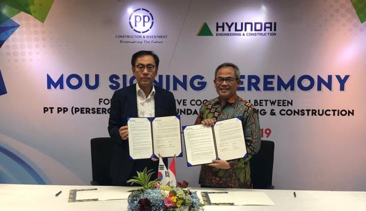 PTPP Cari Peluang Bisnis Bareng Hyundai E&C - Warta Ekonomi