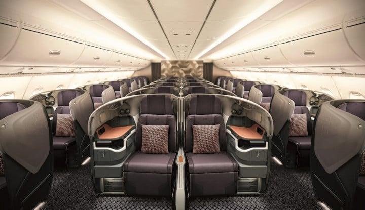 Dapat Pembaruan dari Airbus, Kabin Armada Singapore Airlines Makin Lapang - Warta Ekonomi