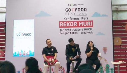 Foto Rayakan 1,5 Tahun, Go-Food Festival Sabet Rekor MURI