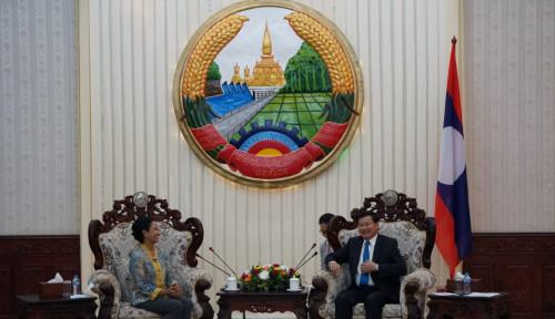 Foto Ke Laos, Rini Soemarno Antar 9 BUMN Perluas Bisnis