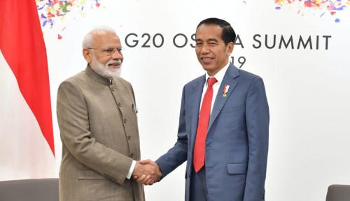 Foto Bertemu PM India, Jokowi Angkat Isu Ekonomi dan Maritim