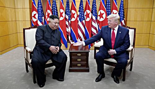 Foto Korut Sambut Baik Saran Trump, Sinyal Perdamaian?