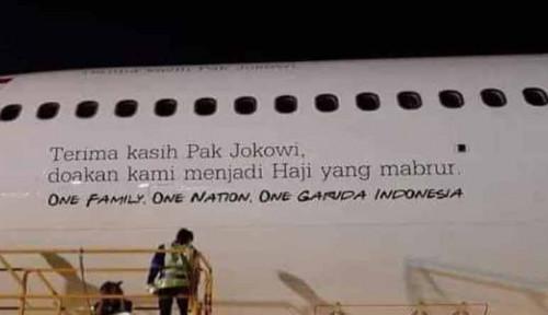 Foto Ucapan Terima Kasih ke Jokowi di Pesawat Wajar?