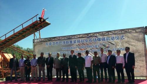 Foto Dahana Garap Proyek Peledakan Pelabuhan Internasional Timor Leste