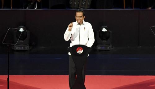 Foto Pidato Jokowi Tak Singgung Prabowo, TKN Bilang...