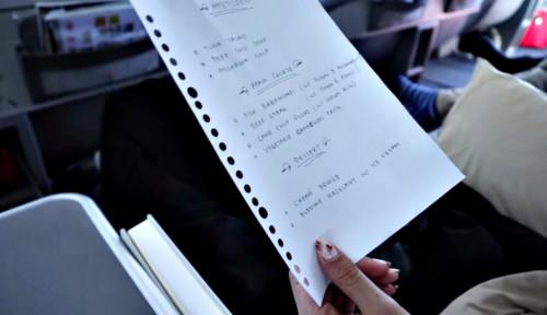 Foto Ini Kronologi Rius Vernandes Foto Tulisan Tangan Menu Garuda