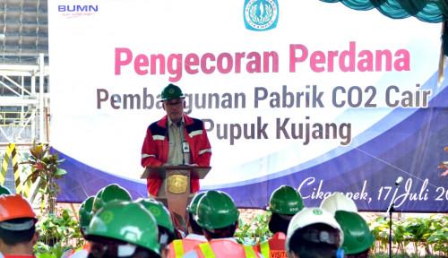 Foto Anak Usaha Pupuk Indonesia Bangun Pabrik CO2 Cair