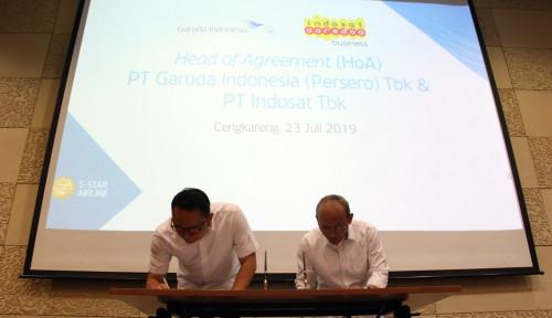 Foto Garuda dan Indosat Gandengan Optimalisasi Transformasi Digital