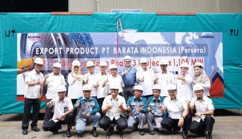 Foto Barata Indonesia Ekspor Komponen Turbin Pembangkit Listrik ke Australia dan Rusia