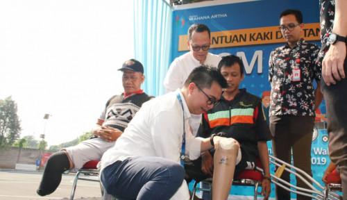 WOMF WOM Finance Bagikan Kaki dan Tangan Palsu ke 150 Tuna Daksa di Tangerang