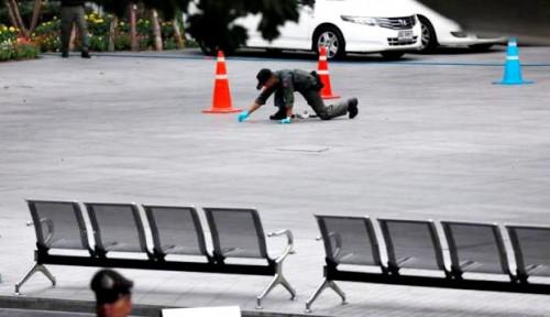 Foto Pascaledakan Bom di Bangkok, Pemerintah Thailand Perketat Kemanan