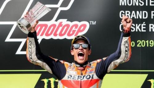 Foto Marc Marquez Jadi Juara di GP Ceska