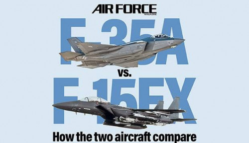 Foto F-15 Taklukkan F-35 Lighting II dalam Dogfight
