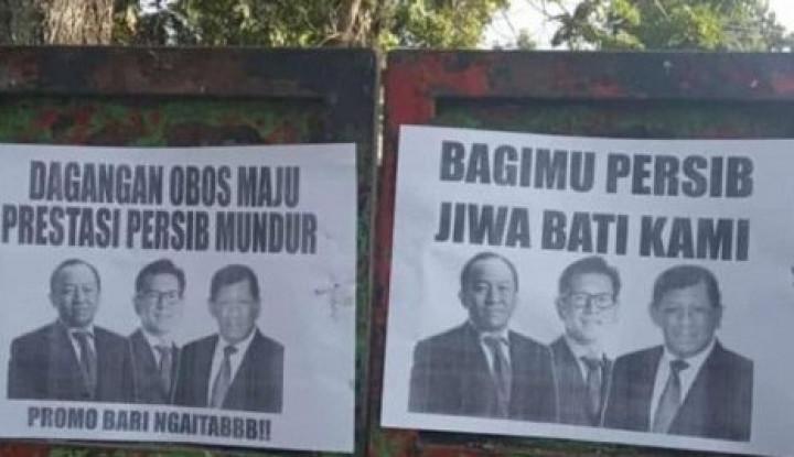 Pamflet Kekecewaan atas Persib Beredar di Bandung, Tulisannya... - Warta Ekonomi