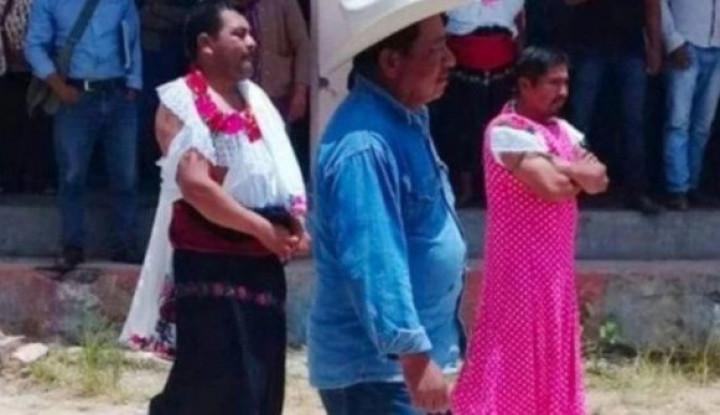 Janji Kampanye Tak Terealisasikan, Wali Kota di Meksiko Diarak Warga Pakai Baju Wanita - Warta Ekonomi