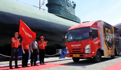 Foto Andalkan Mobile Display Truck Sharp Targetkan Penjualan Rp11 T