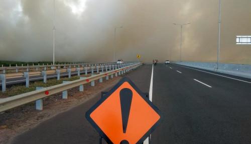 Ada Kebakaran di Ogan Ilir, Hutama Karya Bilang Tol Palindra...