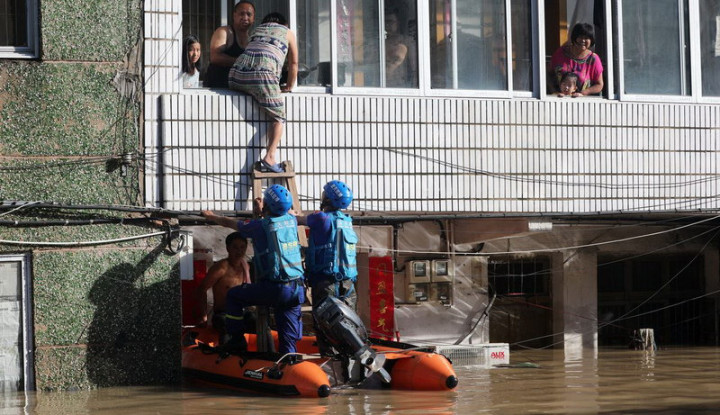 Bencana Topan Lekima di Timur China, Jumlah Korban Tewas Capai. . . - Warta Ekonomi