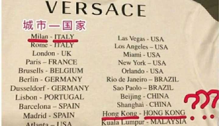 Produsen Pakaian Ini Tulis Hong Kong dan Macao adalah Negara di Bajunya, Warga China Geram - Warta Ekonomi