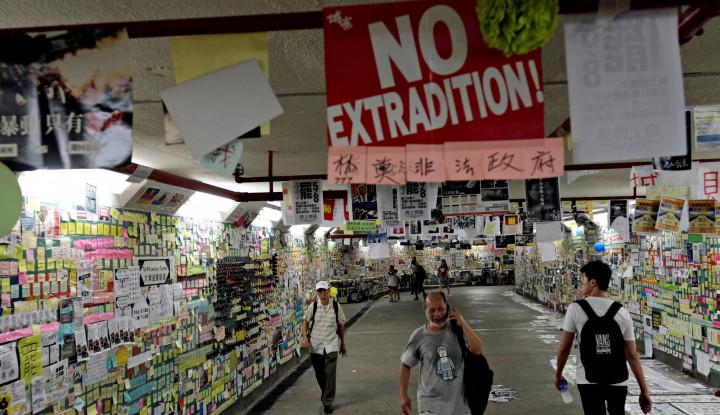 Demonstrasi Hong Kong Tanda-tanda Terorisme, Ada AS Bermain? - Warta Ekonomi