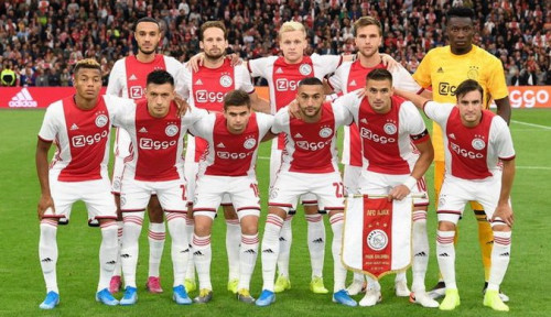 Foto Ajax Tak Lolos 16 Besar Liga Champions 2019-2020, Tangis de Jong Pecah