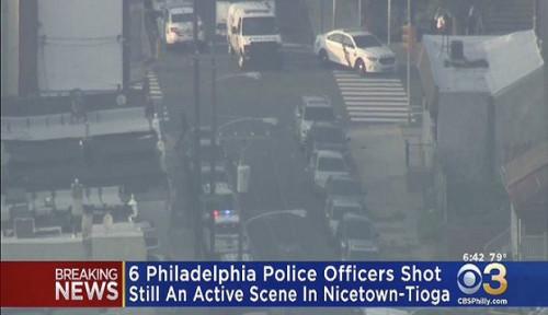 Foto Aksi Penembakan di Philadelphia Lukai 6 Polisi