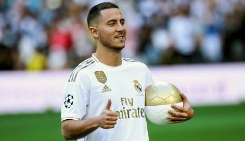 Foto Hazard Tak Bela Madrid di Laga Pembuka Karena...
