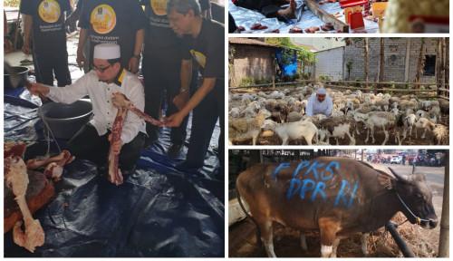 Foto PKS Kurban Puluhan Ribu Sapi dan Domba untuk Rakyat