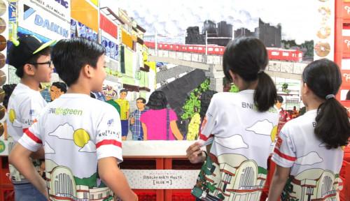 Foto Rayakan HUT RI ke-74, BNI Ajak Anak-Anak Kenali Sejarah Kereta Api