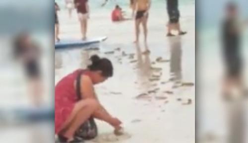 Foto Gegara Perilaku Turis, Pantai di Filipina Ditutup untuk Pengunjung