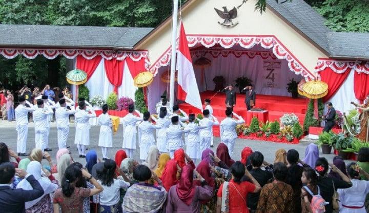 Diaspora Indonesia di Washington Kibarkan Bendera Merah Putih, Usung Kebhinekaan - Warta Ekonomi