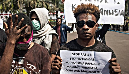 Foto Usai Demo, Aktivitas Warga Jayapura Sudah Normal