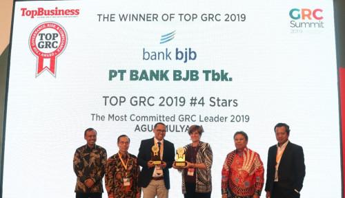 BJBR Baik dalam Pengelolaan Risiko, BJB Raih Top GRC 2019