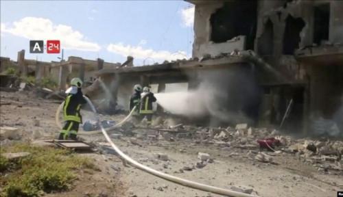 Foto Pasukan Pemerintah Klaim Serangan Udara Rumah Sakit di Suriah