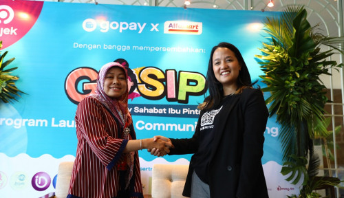 Foto Sst...Go-Pay dan Alfamart Luncurkan GOSIP Buat Ibu-ibu Makin Bahagia