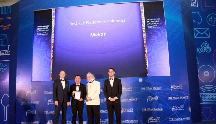 Mekar Boyong Penghargaan Platform P2P Terbaik di Indonesia - Warta Ekonomi