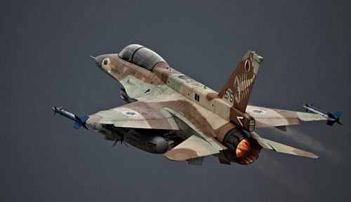Foto Lewat Udara, Israel Hantam Pos Militer Palestina di Lebanon