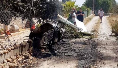 Foto Helikopter Tabrak Pesawat di Mallorca Spanyol, 7 Orang Tewas