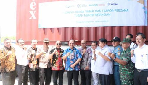 Foto KBI dan BGR Logistics Lepas Ekspor Perdana 1.410 Ton Timah